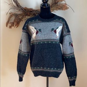 Woolrich wool duck knitted sweater size large
